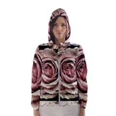 Vintage Rose Hooded Wind Breaker (women)