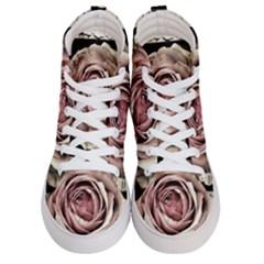 Vintage Rose Men s Hi Top Skate Sneakers