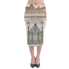 Building News Midi Pencil Skirt