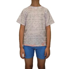 Letter Kids  Short Sleeve Swimwear