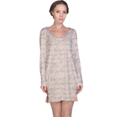 Letter Long Sleeve Nightdress