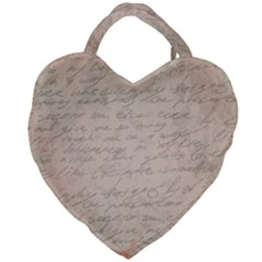 Letter Giant Heart Shaped Tote