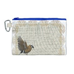 Tag Bird Canvas Cosmetic Bag (large)