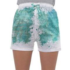 Splash Teal Sleepwear Shorts
