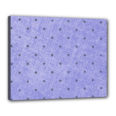 Dot Blue Canvas 20  X 16
