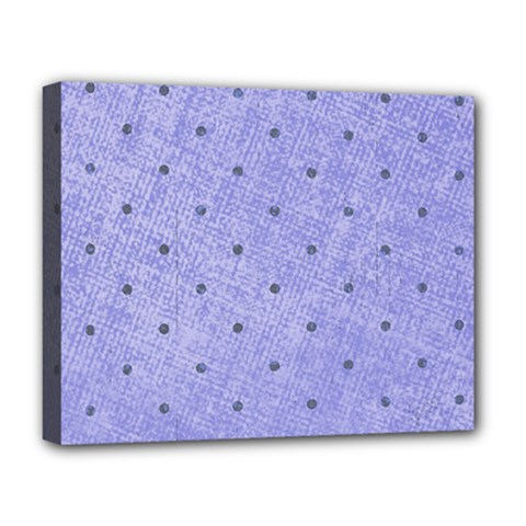 Dot Blue Deluxe Canvas 20  X 16