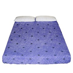 Dot Blue Fitted Sheet (california King Size)