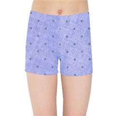 Dot Blue Kids Sports Shorts