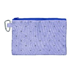 Dot Blue Canvas Cosmetic Bag (large)