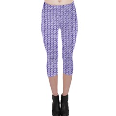 Knitted Wool Lilac Capri Leggings
