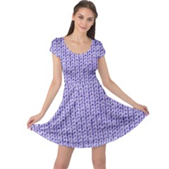 Knitted Wool Lilac Cap Sleeve Dress