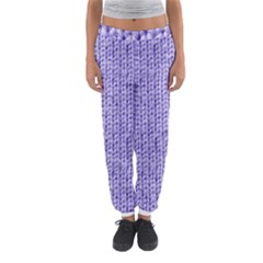 Knitted Wool Lilac Women s Jogger Sweatpants