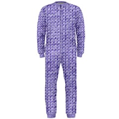 Knitted Wool Lilac Onepiece Jumpsuit (men)
