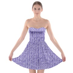 Knitted Wool Lilac Strapless Bra Top Dress
