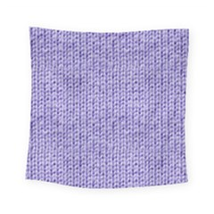 Knitted Wool Lilac Square Tapestry (small)