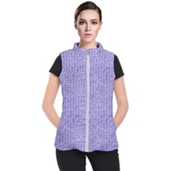 Knitted Wool Lilac Women s Puffer Vest
