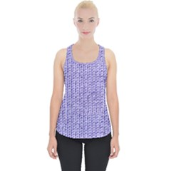 Knitted Wool Lilac Piece Up Tank Top