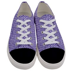 Knitted Wool Lilac Women s Low Top Canvas Sneakers