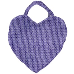 Knitted Wool Lilac Giant Heart Shaped Tote