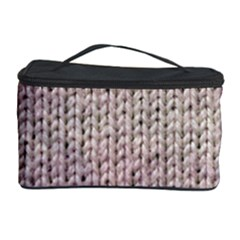 Knitted Wool Pink Light Cosmetic Storage Case