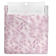 Pink Floral Duvet Cover Double Side (queen Size)