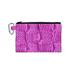 Knitted Wool Square Green Canvas Cosmetic Bag (small)
