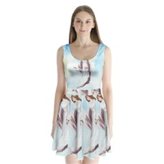 Background 1660365 1920 Split Back Mini Dress