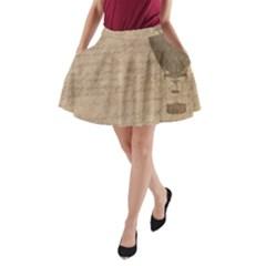 Letter Balloon A Line Pocket Skirt