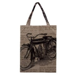 Bicycle Letter Classic Tote Bag
