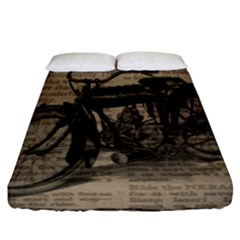 Bicycle Letter Fitted Sheet (california King Size)