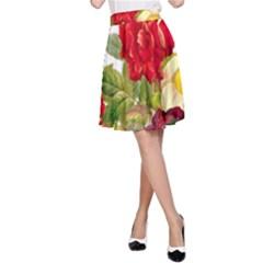 Flower Bouquet 1131891 1920 A Line Skirt