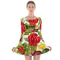 Flower Bouquet 1131891 1920 Long Sleeve Skater Dress