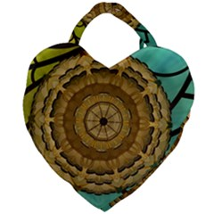 Kaleidoscope Dream Illusion Giant Heart Shaped Tote