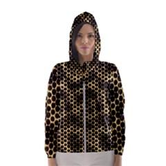 Honeycomb Beehive Nature Hooded Wind Breaker (women)