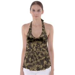 Honeycomb Beehive Nature Babydoll Tankini Top