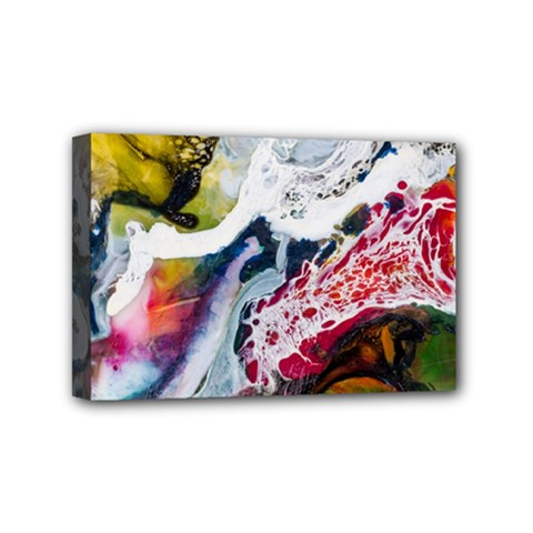 Abstract Art Detail Painting Mini Canvas 6  X 4