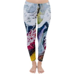 Abstract Art Detail Painting Classic Winter Leggings