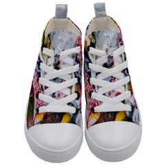 Abstract Art Detail Painting Kid s Mid Top Canvas Sneakers