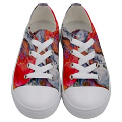 Art Abstract Macro Kids  Low Top Canvas Sneakers