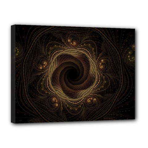 Beads Fractal Abstract Pattern Canvas 16  X 12