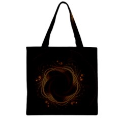 Beads Fractal Abstract Pattern Zipper Grocery Tote Bag