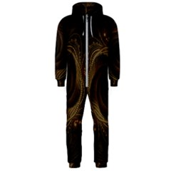 Beads Fractal Abstract Pattern Hooded Jumpsuit (men)