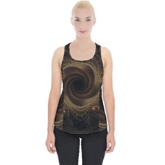 Beads Fractal Abstract Pattern Piece Up Tank Top