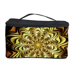 Fractal Flower Petals Gold Cosmetic Storage Case