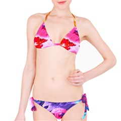 Abstract Art Background Paint Bikini Set