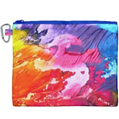 Abstract Art Background Paint Canvas Cosmetic Bag (xxxl)