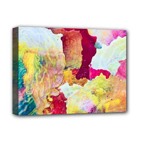 Art Detail Abstract Painting Wax Deluxe Canvas 16  X 12
