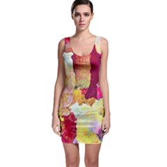 Art Detail Abstract Painting Wax Bodycon Dress