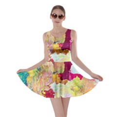 Art Detail Abstract Painting Wax Skater Dress