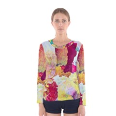 Art Detail Abstract Painting Wax Women s Long Sleeve Tee